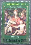 Poštovní známka Svatá Lucie 1973 Vánoce, umění, Bronzino Mi# 339