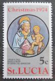 Poštovní známka Svatá Lucie 1974 Vánoce Mi# 356