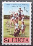 Poštovní známka Svatá Lucie 1977 Skauti Mi# 412