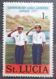 Poštovní známka Svatá Lucie 1977 Skauti Mi# 413