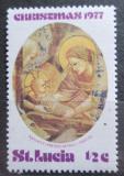 Poštovní známka Svatá Lucie 1977 Umění, vánoce Mi# 420