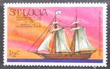 Poštovní známka Svatá Lucie 1976 Plachetnice Hanna Mi# 372
