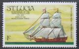 Poštovní známka Svatá Lucie 1976 Plachetnice Prince of Orange Mi# 373