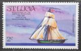 Poštovní známka Svatá Lucie 1976 Plachetnice Edward Mi# 374