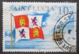 Poštovní známka Svatá Lucie 1996 Španělská plachetnice Mi# 1056 I