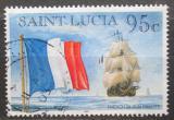 Poštovní známka Svatá Lucie 1996 Francouzská plachetnice Mi# 1065 I