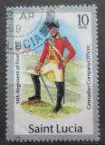 Poštovní známka Svatá Lucie 1987 Vojenská uniforma Mi# 749 II
