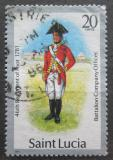 Poštovní známka Svatá Lucie 1986 Vojenská uniforma Mi# 750 II