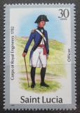 Poštovní známka Svatá Lucie 1987 Vojenská uniforma Mi# 752 II