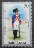 Poštovní známka Svatá Lucie 1987 Vojenská uniforma Mi# 755 II