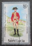 Poštovní známka Svatá Lucie 1987 Vojenská uniforma Mi# 888 I