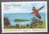 Poštovní známka Svatá Lucie 1985 Vodouš žlutonohý Mi# 772