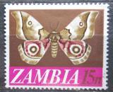Poštovní známka Zambie 1968 Nudaurelia zambesina Mi# 45