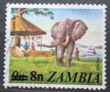 Poštovní známka Zambie 1979 Slon přetisk Mi# 197