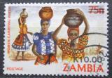 Poštovní známka Zambie 1989 Ženy nesoucí vodu přetisk Mi# 495