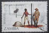 Poštovní známka Zambie 1985 Stavba telegrafní linky Mi# 344 Kat 6€