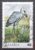 Poštovní známka Zambie 1989 Člunozobec africký přetisk Mi# 489 Kat 4.50€
