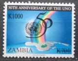 Poštovní známka Zambie 2004 OSN, 50. výročí přetisk Mi# 1489