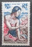 Poštovní známka Francouzská Polynésie 1958 Sběračka mušlí Mi# 8