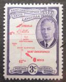 Poštovní známka Svatý Kryštof 1952 Mapa Mi# 102