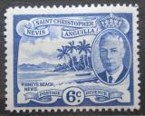 Poštovní známka Svatý Kryštof 1952 Pláž Pinney Mi# 105