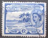 Poštovní známka Svatý Kryštof 1954 Pláž Pinney Mi# 119
