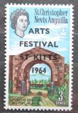 Poštovní známka Svatý Kryštof 1964 Brána k pevnosti Brimstone přetisk Mi# 154