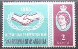 Poštovní známka Svatý Kryštof 1965 Rok mezinárodní spolupráce Mi# 158