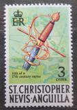 Poštovní známka Svatý Kryštof 1970 Rukojeť kordu Mi# 202