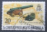 Poštovní známka Svatý Kryštof 1970 Lodní dělo Mi# 208