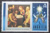 Poštovní známka Anguilla 1973 Vánoce, umění Mi# 180