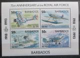 Poštovní známky Barbados 1993 Letadla Mi# Block 29
