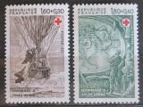 Poštovní známky Francie 1982 Ilustrace z děl Julese Verna Mi# 2367-68