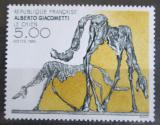 Poštovní známka Francie 1985 Bronzová socha, Alberto Giacometti Mi# 2524
