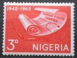 Poštovní známka Nigérie 1963 Lidská práva Mi# 144