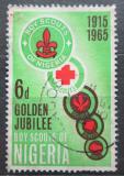 Poštovní známka Nigérie 1965 Skautské hnutí, 50. výročí Mi# 162