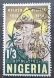 Poštovní známka Nigérie 1965 Skautské hnutí, 50. výročí Mi# 163 A
