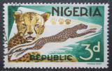 Poštovní známka Nigérie 1966 Gepard štíhlý Mi# 179 A