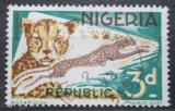 Poštovní známka Nigérie 1972 Gepard štíhlý Mi# 179 CII