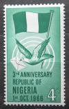 Poštovní známka Nigérie 1966 Státní vlajka Mi# 192