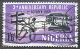 Poštovní známka Nigérie 1966 Telegraf a telefon Mi# 193