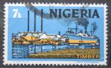 Poštovní známka Nigérie 1973 Zpracování dřeva Mi# 277 II Y
