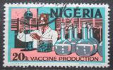 Poštovní známka Nigérie 1973 Výroba vakcín Mi# 283 II Y
