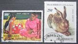 Poštovní známky Džibutsko 1978 Umění Mi# 227-28