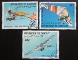 Poštovní známky Džibutsko 1984 Ultralehká letadla Mi# 394-96