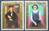 Poštovní známky Džibutsko 1984 Umění Mi# 399-400 Kat 5€
