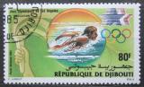 Poštovní známka Džibutsko 1984 LOH Los Angeles, plavání Mi# 411