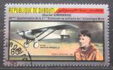 Poštovní známka Džibutsko 1987 Charles Lindbergh a Spirit of St. Louis Mi# 483