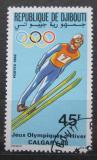 Poštovní známka Džibutsko 1988 ZOH Calgary, skoky na lyžích Mi# 507