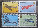 Poštovní známky Jersey, Velká Británie 1975 Letadla Mi# 127-30